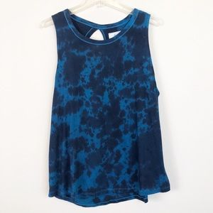 Lou & Grey Blue & Navy Tie Dye Tank Top, Small